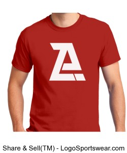 Red Azor T-Shirt- Adult Design Zoom