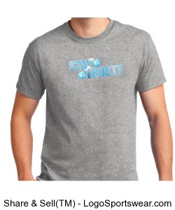 Grey Stay Frosty T-Shirt Adult Design Zoom