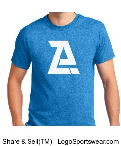 Blue Azor T-Shirt- Adult Design Zoom